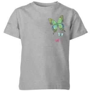 My Little Rascal Pocket Butterflies Kids' T-Shirt - Grey