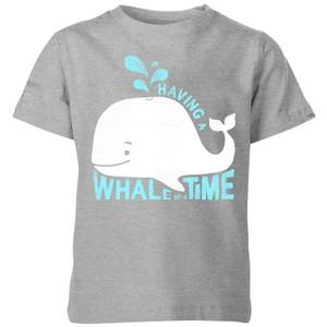 My Little Rascal Having A Whale Of A Time Kids' T-Shirt - Grey