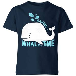 My Little Rascal Having A Whale Of A Time Kids' T-Shirt - Navy