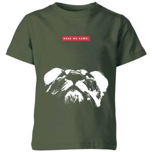 My Little Rascal Hear Me Rawr. Kids' T-Shirt - Forest Green