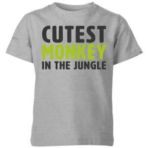 My Little Rascal Cutest Monkey In The Jungle Kids' T-Shirt - Grey