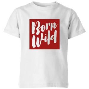My Little Rascal Born Wild Kids' T-Shirt - White