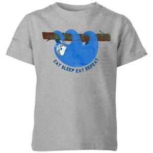 My Little Rascal Eat Sleep Eat Repeat Kids' T-Shirt - Grey