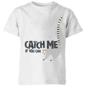 My Little Rascal Catch Me If You Can Kids' T-Shirt - White
