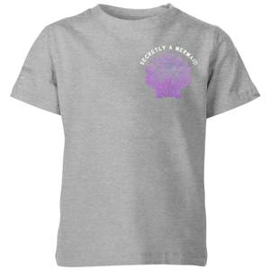 My Little Rascal Secretly A Mermaid Kids' T-Shirt - Grey