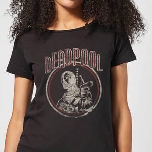 Marvel Deadpool Vintage Circle Women's T-Shirt - Black