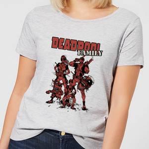 Marvel Deadpool Family Group Women's T-Shirt - Grey