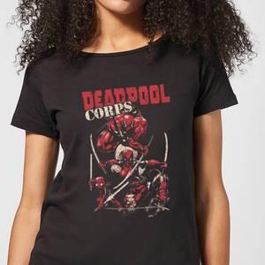 Marvel Deadpool Family Corps Women's T-Shirt - Black