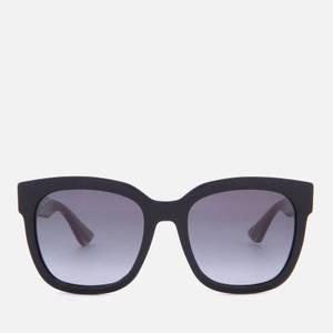 Gucci Women's Acetate Square Frame Sunglasses - Black/Green