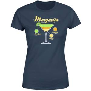 Infographic Margarita Women's T-Shirt - Navy