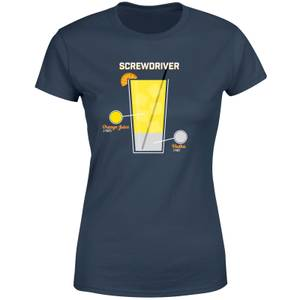 Infographic Screwdriver Women's T-Shirt - Navy