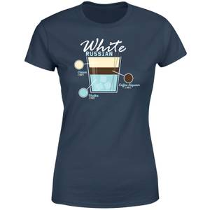 Infographic White Russian Women's T-Shirt - Navy
