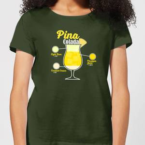 Infographic Pinacolada Women's T-Shirt - Forest Green