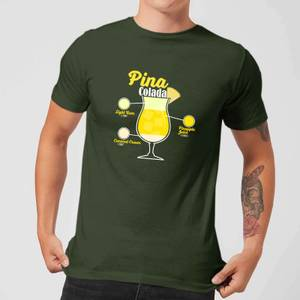Infographic Pinacolada Men's T-Shirt - Forest Green