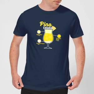 Infographic Pinacolada Men's T-Shirt - Navy