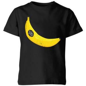 My Little Rascal My Dad Is A Top Banana Kids' T-Shirt - Black