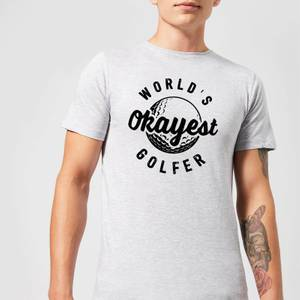 World's Okayest Golfer Men's T-Shirt - Grey