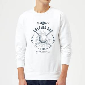 Golfing Dad Sweatshirt - White