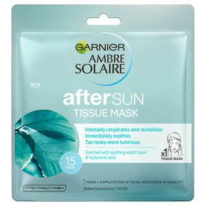 Ambre Solaire After Sun Cooling Hyaluronic Acid Face Sheet Mask 32g