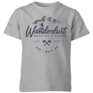 Wanderlust Kids' T-Shirt - Grey