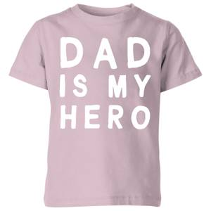 My Little Rascal Dad Is My Hero - Baby Pink Kids' T-Shirt