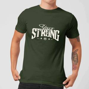 Stay Strong Logo Men's T-Shirt - Forest Green