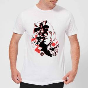 Marvel Knights Daredevil Layered Faces Men's T-Shirt - White