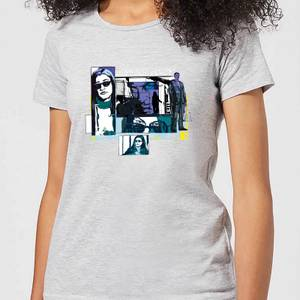 Marvel Knights Jessica Jones Comic Panels Dames T-shirt - Grijs