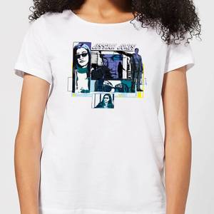 Marvel Knights Jessica Jones Comic Panels Dames T-shirt - Wit