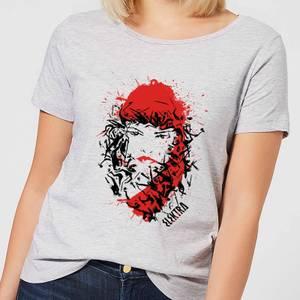 Marvel Knights Elektra Face Of Death Women's T-Shirt - Grey