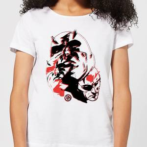 Marvel Knights Daredevil Layered Faces Dames T-shirt - Wit