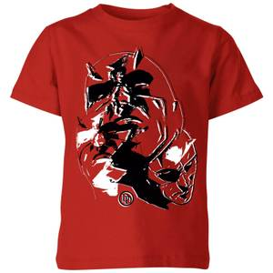 Marvel Knights Daredevil Layered Faces Kinder T-shirt - Rood