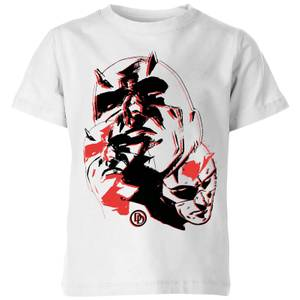 Marvel Knights Daredevil Layered Faces Kids' T-Shirt - White