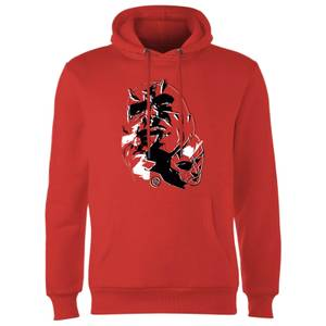 Marvel Knights Daredevil Layered Faces Hoodie - Red