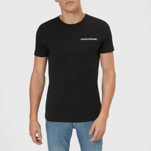 Calvin Klein Jeans Men's Chest Institutional Slim T-Shirt - CK Black