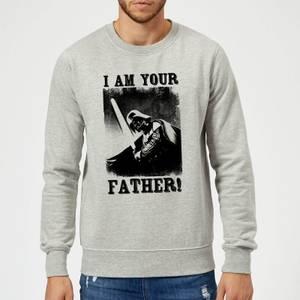 Star Wars Darth Vader I Am Your Father Lightsaber Sweatshirt - Grey