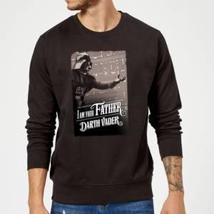 Star Wars Darth Vader I Am Your Father Open Arm Sweatshirt - Black