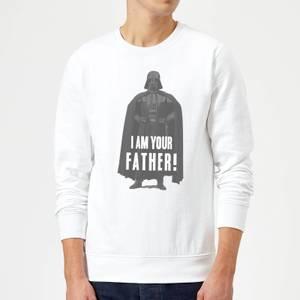 Star Wars Darth Vader I Am Your Father Pose Sweatshirt - White
