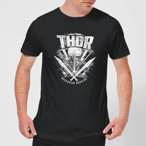 T-Shirt Homme Marvel - Thor Ragnarok - Logo du Marteau de Thor - Noir