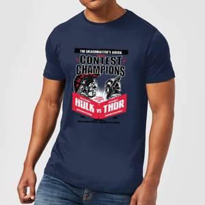 Marvel Thor Ragnarok Champions Poster Men's T-Shirt - Navy