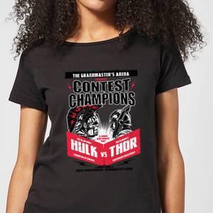 Marvel Thor Ragnarok Champions Poster Women's T-Shirt - Black