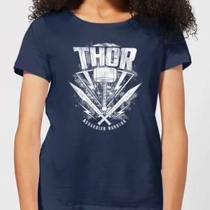 Marvel Thor Ragnarok Thor Hammer Logo Women's T-Shirt - Navy