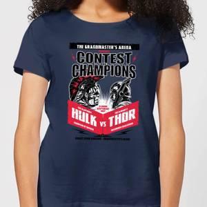 Camiseta Marvel Thor Ragnarok Champions Póster - Mujer - Azul marino