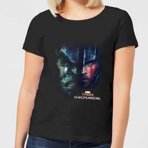 Marvel Thor Ragnarok Hulk Split Face Women's T-Shirt - Black