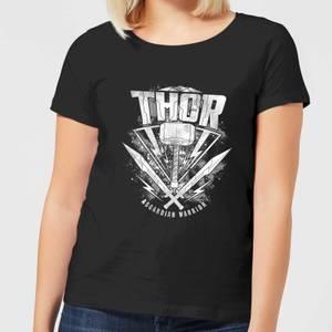 T-Shirt Marvel Thor Ragnarok Thor Hammer Logo - Nero - Donna