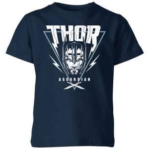 Marvel Thor Ragnarok Asgardian Triangle Kids' T-Shirt - Navy
