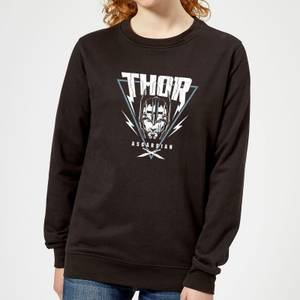 Sweat Femme Marvel - Thor Ragnarok - Triangle Asgardien - Noir