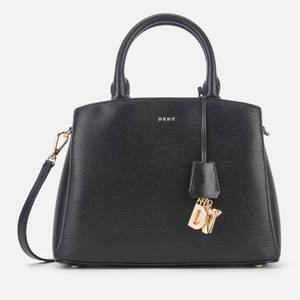 DKNY Women's Paige Medium Satchel - Black/Gold