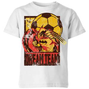 DC Comics Batman Dream Team Punch Kids' T-Shirt in White