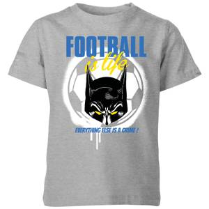 DC Comics Batman Football Is Life Kids' T-Shirt in Grey